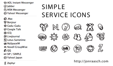 adium xtras view xtra simple service icons 2008